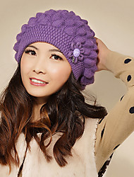 Xiaerbeiluo Fashion Wool Blend Knitted Hat(Purple)