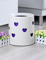 Creative Forme coeur blanc en plastique Bin - 2 couleurs Avaliable