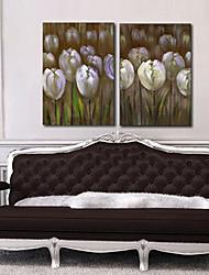 Натяжные Печать холст Art Floral Маки комплект из 2