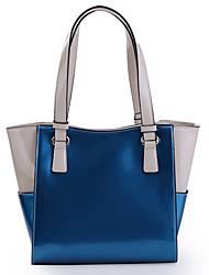 Mujeres MABINRY Lo último caramelo de charol de color azul bolsas