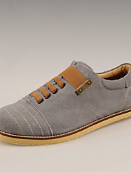Mode de cuir de velours Simul Souliers (Gray)