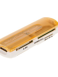 4-in-1 USB 2.0 Memory Card Reader (Pink/Purple/Orange/Green/Black)