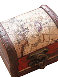 Gifts Bridesmaid Gift Nautical Map Design Wood Desktop Storage/Jewelry Holder (Random Design)