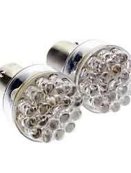 BA15s / 1156 0.72W 24 dirigée par la lumière rouge 50lm ampoule led pour voiture (12v, 2 pcs)