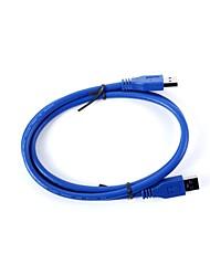 USB ULT-unir ULT-0216 3.0 Masculino para Conexão Masculino Cabo de dados - Deep Blue (1.5m)