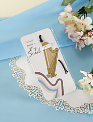 Ouro Harp Bookmark com Hide Rope
