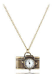 Women's Camera Style Vintage Alloy Quartz Necklace Watch Cool Watches Unique Watches
