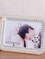 "7.75""H European Style Inlay Pearl Picture Frame"