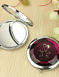 Personalizado Padrão amante do presente Chrome espelho compacto