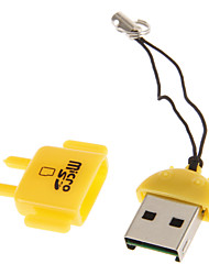 Mini USB Memory Card Reader (Green/Blue/Yellow)