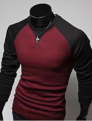 A & W Camicia Rossa a manica lunga con collo a V Elastic Uomo