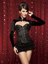 Jacquard devant Busk fermeture acier désosser corset shapewear