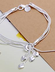 Flower Women's Korean-style High Quality Fashion Silver Bracelets