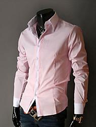 Shangdu Einfache Long Sleeve Casual Shirt (Pink)