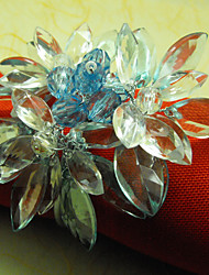 Crystal Floral Wedding Napkin Ring, Dia 4.5cm