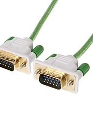 VGA 3 +6 macho a macho Cable Vídeo 4.2mm OD Green (1,5 M)