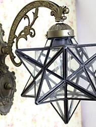In stile mediterraneo 40W Tiffany a cinque punte a forma di stella di vetro trasparente Tiffany Lampade da parete - 1 Lights