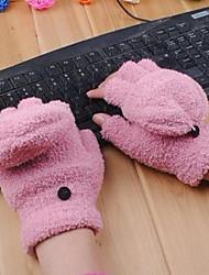 carino moda corallo guanti di velluto delle donne