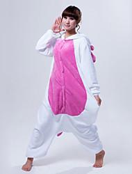 Kigurumi Pyjamas Unicorn Gymnastikanzug/Einteiler Fest/Feiertage Tiernachtwäsche Halloween Weiß / Rosa / Blau Patchwork Korallenfleece