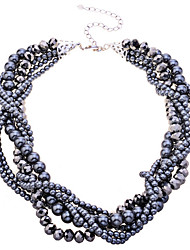 Jewelry Choker Necklaces Party / Daily Pearl / Alloy Women Gray Wedding Gifts