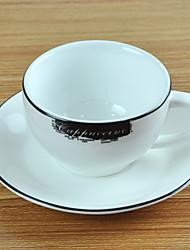Cappuccino Coffee Mug, Porcelain 7oz