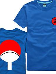 Naruto Sasuke Uchiha Blue Cotton Men's Cosplay T-shirt