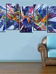 Reproduction transférée sur toile Art abstrait Prisma Ensemble de 5