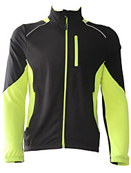 Jaggad Cycling Jacket Men's Long Sleeve Bike Jersey Jacket Fleece Jackets TopsThermal / Warm Windproof Fleece Lining Wearable Breathable