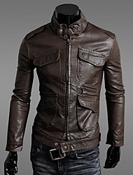 Men's Long Sleeve Leather & Suede/Jacket , PU Sport Pure