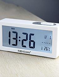 "2.75""H LED Light Calendar Thermometer Mute Alarm Clock"