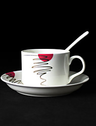Taza artística, porcelana 5 oz
