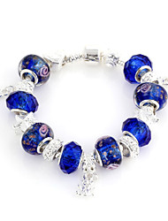 Azul cristal Strand Pulseira de 6,3 centímetros doces Mulheres (1 Pc)