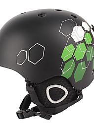MOON Fietsen Zwart + Groen PVC / EPS Licht Ski / Snowboard Helm