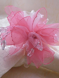 Crystal Floral Wedding Napkin Ring, Organza Dia 4.5cm