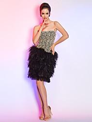 Cocktail Party/Holiday Dress - Multi-color Plus Sizes Sheath/Column Strapless Short/Mini Lace