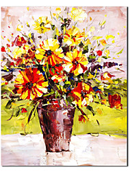 Hand Painted Oil Painting Still Life Blooming Yellow with Stretched Frame