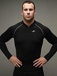Men's Long Sleeve T-Shirt , Lycra/Nylon/Organic Cotton Sport Pure