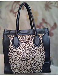 Sac noir de léopard de Caelyn femmes (26 * 22 * 13)