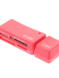 Lector de tarjetas de memoria USB 2.0 5-en-uno y Escritor (azul, blanco, rojo)