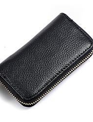 Mega Flexo Leather Vintage Key Holder (Black)