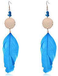 Bohemian Fashion Long Feather Earrings