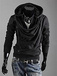 Shangdu Oblique Zipper com capuz (Preto)