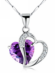 Women's Sterling Silver Necklace Anniversary/Wedding/Birthday/Gift/Special Occasion Cubic Zirconia