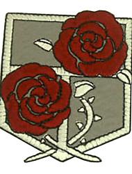 "Shingeki Pas Kyojin Attaque sur Titan Stationné Corps Logo 3 ""Cosplay Patch brodé"