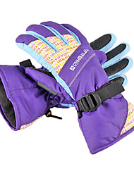 CNHIMALAYA Waterproof Purple Ski Gloves