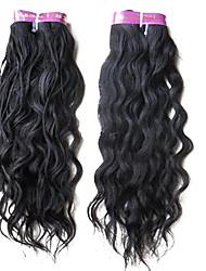 3pcs 5a 20inch onda cabelo natural brasileiro grau tecer cabelo virgem cor natural 1b