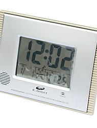 "5.9""H Thermometer Alarm Clock with Calender"
