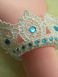 Couronne de mariage Serviette, dentelle de perle de Dia 4.5cm
