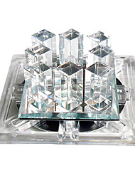 led crystal flush mount, 1 light, modern dainty metal
