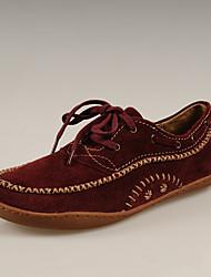 Simul style chinois en cuir rétro Chaussures (vin)